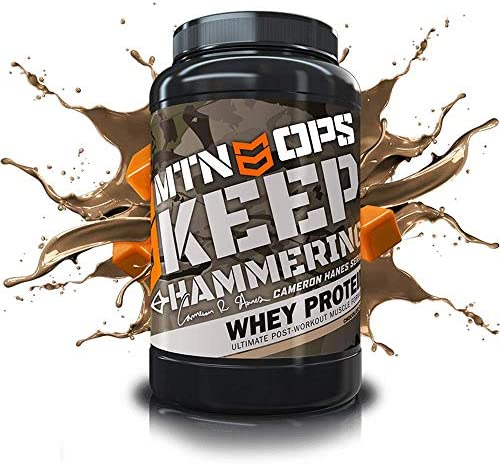 MTN OPS Cameron Hanes Keep Hammering Whey Protein Powder