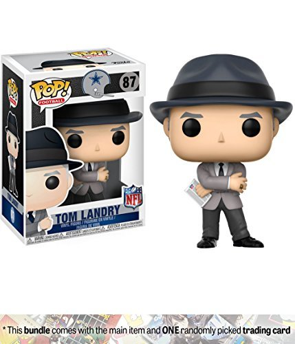 Funko Tom Landry [Cowboys Coach] POP! Football x NFL Legends Vinyl Figure + 1 Official NFL Trading Card Bundle (20214)