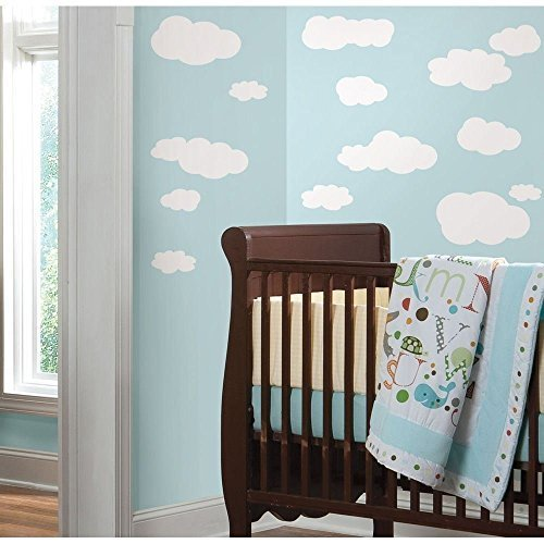 WW shop 19 New WHITE CLOUDS WALL DECALS Baby Nursery Sky Stickers Kids Room (Cloud Wall Stickers)