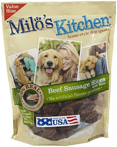 Milos Kitchen Heart Treats Sausage product image