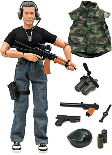12 Figures Military Inch (Click N' Play Military Green Beret Elite Swat Unit 12
