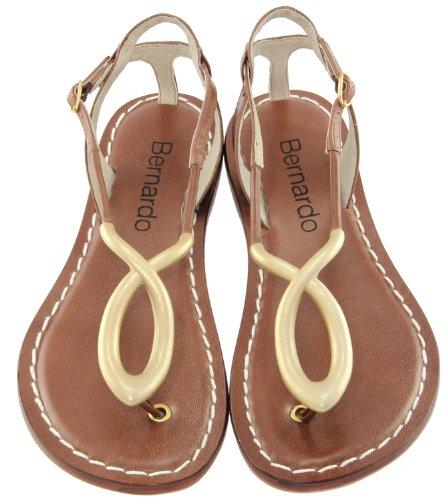 Bernardo Femmes Macy Softkid T-strap Sandale Bois