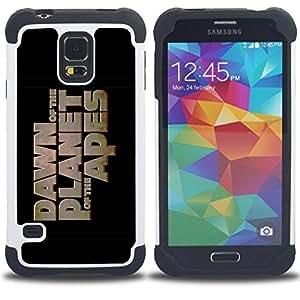 - cool black gold movie apes/ H??brido 3in1 Deluxe Impreso duro Soft Alto Impacto caja de la armadura Defender - SHIMIN CAO - For Samsung Galaxy S5 I9600 G9009 G9008V