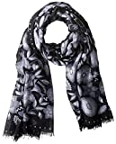 Kenzo Women's Patterned Scarf, Anthracite