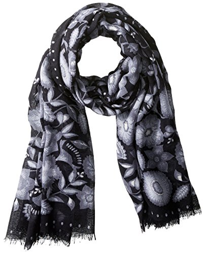 Kenzo Women's Patterned Scarf, Anthracite by Kenzo