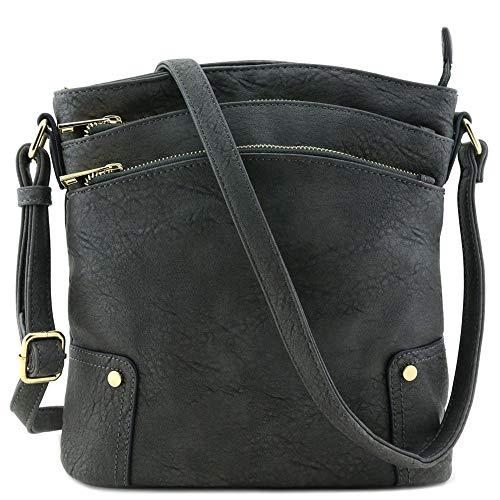 Leather Crossbody Handbag - 1