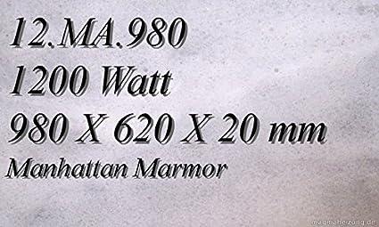 Calefacción por infrarrojos – Calefactor de infrarrojos eléctrico (mármol Magma Calefacción 1200 W 12.