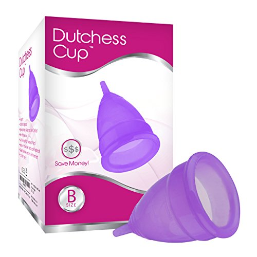 Dutchess Reusable Menstrual Cup - Best Feminine Care Alternative Protection to Cloth Sanitary Napkins and Tampons - Small (Pre-childbirth / C-section, 1x Purple)