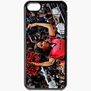 Personalized iPhone 5C Cell phone Case/Cover Skin Atlanta hawks girls Black