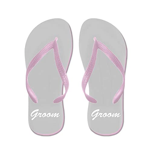 086069e95 Image Unavailable. Image not available for. Color  CafePress - Bride and Groom  Flip Flops ...