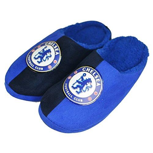 Chelsea FC Mitte Hälfte Kind Blau/Navy Hausschuhe, Childs 5-6