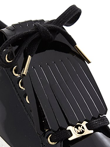 Micheal Kors mujeres de las zapatillas de deporte bajas con flecos 43F5KTFS1A KEATON ZAPATILLAS Kiltie negro