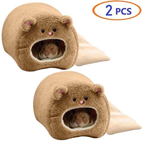 Tfwadmx Rat Bed, Hamster Nest Fleece Hut Winter Warm House Sleep Cave Hut for Dwarf Hamster Mouse Mini Mice