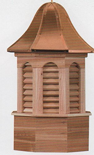 Pinnacle 24'' Cedar Cupola with Copper Roof by Garden Oaks Specialties