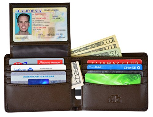 - RFID Blocking Leather Wallet for Men - RFID Passport Sleeve and Gift Box incl.