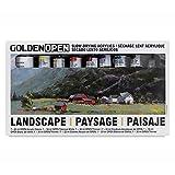 Golden Open Acrylic Landscape, Set Of 8 Multi