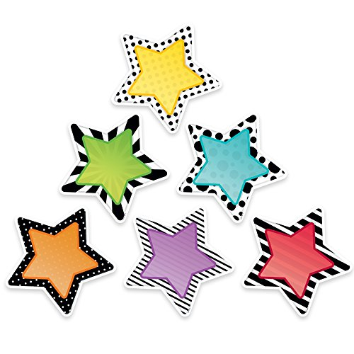 "Creative Teaching Press  Bold & Bright Stars Cut Outs 6"" (3360)"