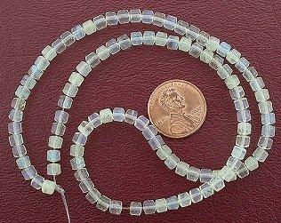 (4mm Drum Gemstone Pineapple Quartz Beads)