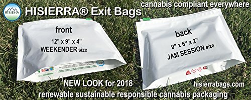 HISIERRA child resistant exit bags JAM SESSION 9 x 6 x 2 size by HISIERRA Cannabis Packaging (Image #7)