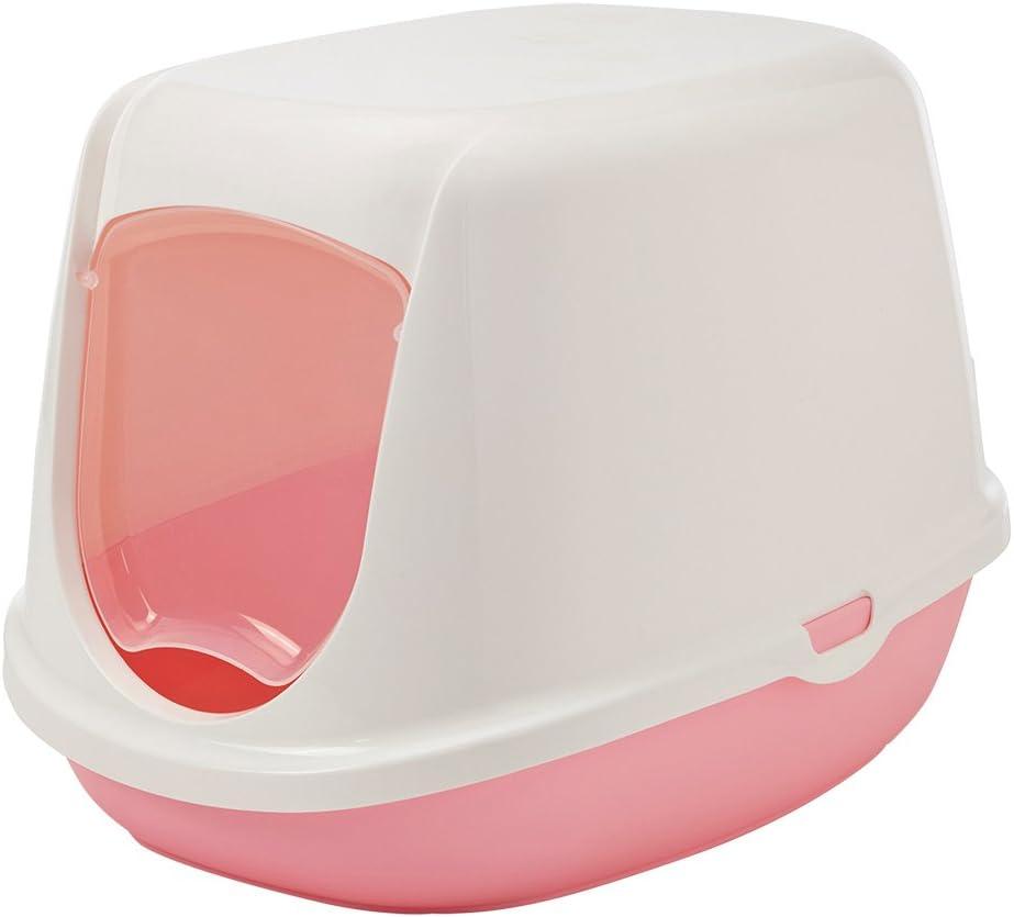 Savic Cat Litter Cacerola Duchesse con Puerta, 44x 35x 32cm, Pink-White