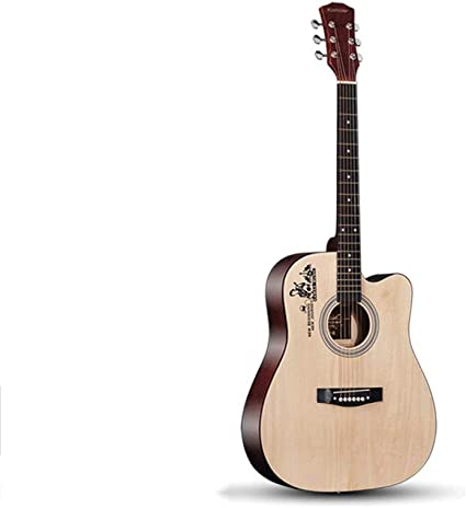 Loivrn Guitarra de haya nativa de 41 pulgadas Guitarra acústica ...