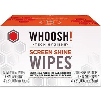 Screen Shine Toallitas antimicrobiche – Paquete de 12 unidades. + 1 gamuza