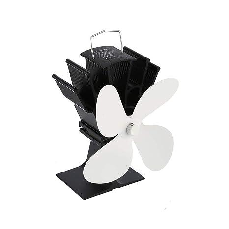 Sunnyday Ventilador de Chimenea de Potencia térmica Ventilador de Estufa de leña Alimentado por Calor Ventiladores