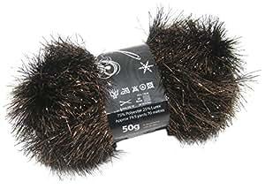 Cobre espumillón Sparkle pestaña ovillo de 50G Ovillo de lana bola libre bufanda patrón
