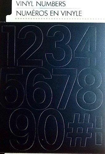 Black Vinyl Numbers ~ Pre-cut Peel & Use 2 Inch ~ 3 of Each 0-9