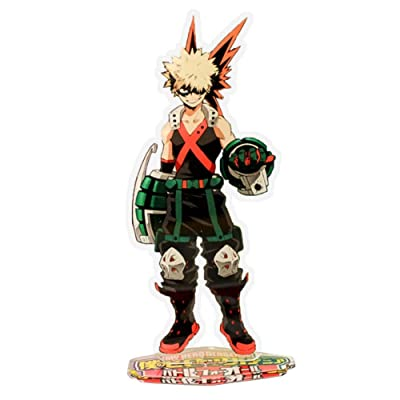 WerNerk Anime My Hero Academia Boku no Hero Academia Acrylic Standing Figure, Desk Stand Miniature Action Figure for Home Office Decor Best Toy for Anime Fans(Bakugou Katsuki-2): Home & Kitchen