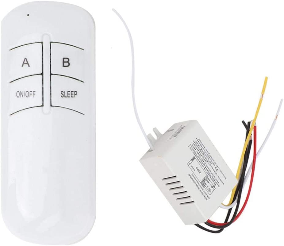 digitaler Fernbedienungsschalter Zubeh/ör f/ür die Lampenleuchte zur Fernbedienung Einfach zu installierender Ersatz Drahtlose Wandfernbedienung