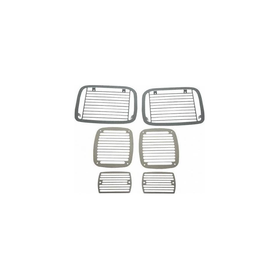 87 95 JEEP WRANGLER STONE GUARD SUV, Set, 6 pieces, Billet Style, Stainless, Protects Headlamps, Tail Lamps & Turn (1987 87 1988 88 1989 89 1990 90 1991 91 1992 92 1993 93 1994 94 1995 95) J109303 N/A