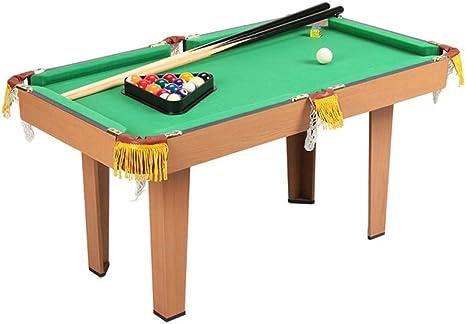 TriGold Mini Mesa De Billar para Los Niños,Portátil Mesa Billar Juego para Home Party,Montar Fácilmente Billar Pool con 2 Cues Chalk Rack A: Amazon.es: Deportes y aire libre