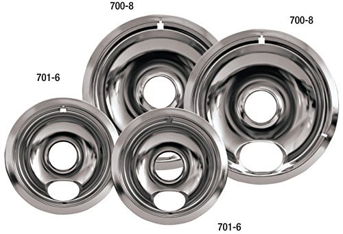 Stanco Universal Chrome Reflector Bowl Set of 4, two 6 Inch and two 8 Inch