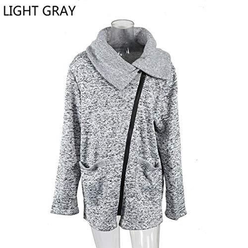 Zronji Women Jacket Sweatshirt Coat Wool Winter Plus Size Casual Outwear Windbreaker Long Sleeve Fluffy Zip Sweater (Sweatshirt Glamour Vintage)
