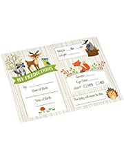 """Lillian Rose 24BS230 PC Woodland Baby Shower Prediction Cards, Neutral, 5.5""""x 4.25"""""""