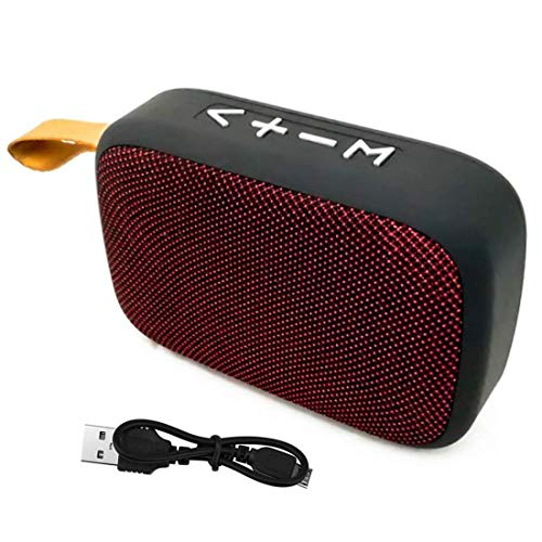 Rewy TW02 Waterproof Portable Bluetooth Wireless Speaker Stereo Sound with USB Port | SD Slot | TF Card | AUX | FM | Pen Drive | Built-in Mic Compatible with All Devices (Random Color)