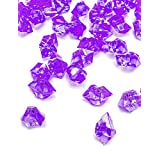 DomeStar Acrylic Ice Cubes, Crystals, Gems Vase Fillers, 150 Pcs, Purple, Best Ideal Christmas Gift