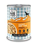 """""""I And Love And You"""" Cluckin' Good Stew Grain Free Canned Dog Food, 13 Oz (Pack Of 12)"""
