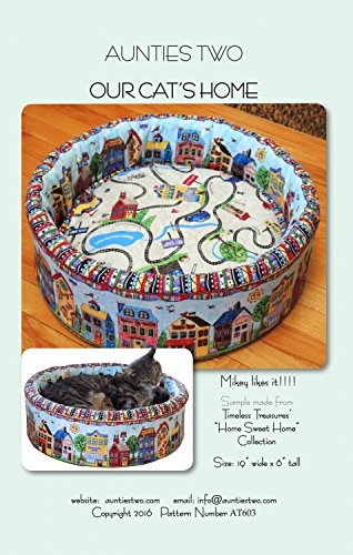 Aunties Two Our Cat's Home Cat Bed Sewing Pattern ()