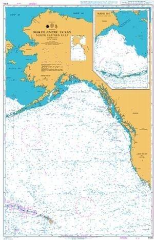 Ba Diagramm 4050  North Pacific Ocean North Eastern Ersatzteil von UNITED KINGDOM Hydrographic Büro