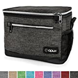 OPUX Premium Insulated Lunch Bag with Shoulder Strap | Lunch Box for Adults, Kids | Soft Leak Proof Liner | Medium Lunch Cooler for Office, School | Fits 6 Cans (Charcoal)