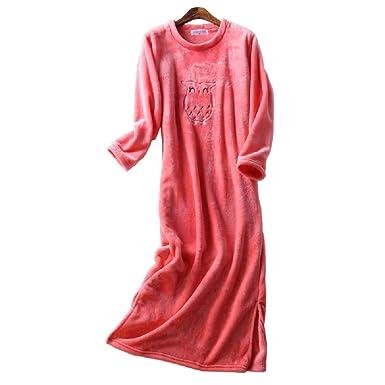 à bas prix 25330 e4966 Mmllse Chemise De Nuit en Flanelle Extra Longue Femme ...
