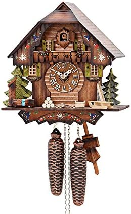 German Cuckoo Clock 8-day-movement Chalet-Style 13 inch – Authentic black forest cuckoo clock by Hekas