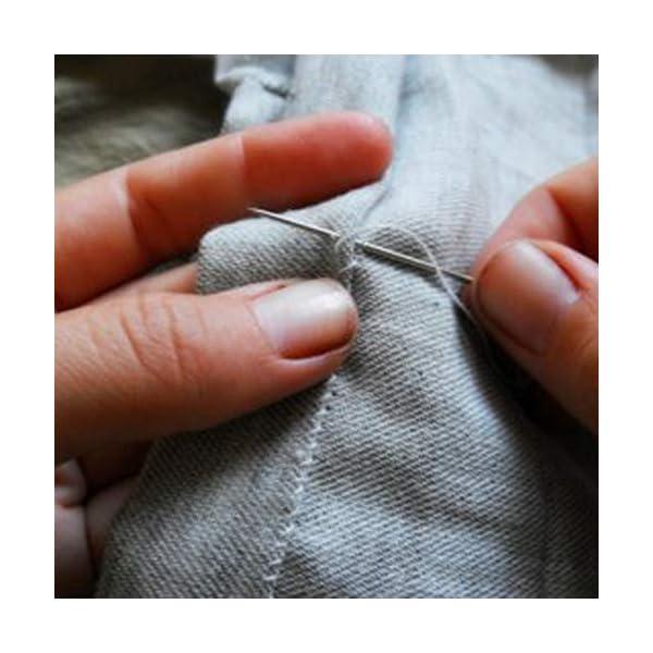 Ua Crafts 21 Big Eye Hand Sewing Needles - 56mm Large Eye Stitching Needles  in Storage Tube