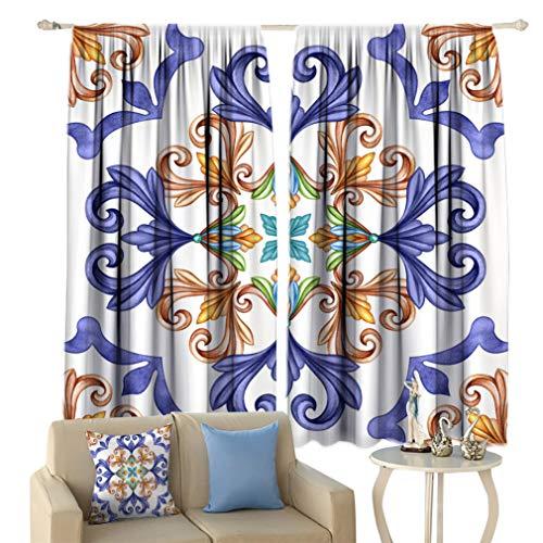 Greatdecor Abstract Lihgtproof Curtains, Classic Pattern Antique
