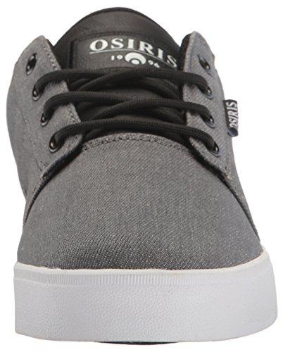 Osiris Mens Mesa Scarpe Da Skateboard Carbone / Bianco / Nero