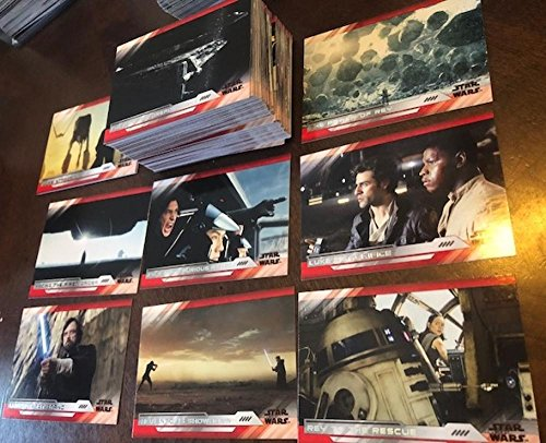 2018 Topps Star Wars The Last Jedi Series 2 Hand Collated Complete NonSport Set of 100 Cards featuring cards of Luke Skywalker (Mark Hamill) Rey (Daisy Ridley) Princess Leah (Carrie Fisher) Porgs and many more... Near Mint to Mint
