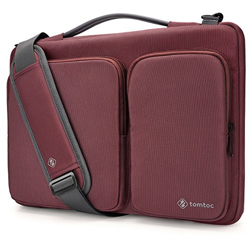 (tomtoc Original Laptop Shoulder Bag with CornerArmor, Compatible with 13.3