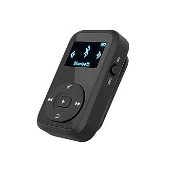 ChenFec - Reproductor de música MP3 con Bluetooth, 8 GB, portátil, Compatible con Tarjeta SD de hasta 64 GB de Memoria + Brazalete